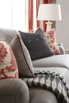 Fresh Farmhouse | Sarah Richardson Design | Red and Gray Decor