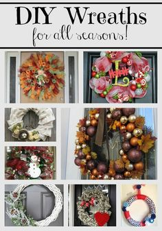 These DIY Wreaths we