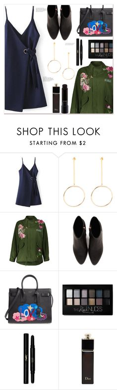 """""""TGIF"""" by mycherryblossom ❤ liked on Polyvore featuring Alexander Wang, Yves Saint Laurent, Maybelline, Christian Dior and MAC Cosmetics"""