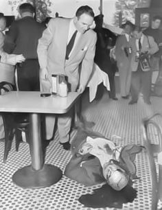 "Willie Moretti crime scene. Guarino ""Willie"" Moretti, also known as Willie Moore (February 24, 1894 – October 4, 1951), was a notorious underboss of the Genovese crime family and a cousin of the family boss Frank Costello."