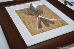 DIY: Silverware Wall Art...I want to use my mother's and both grandmothers' flatware to make it more personal