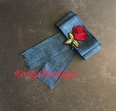 Rose Bow Brooch tie