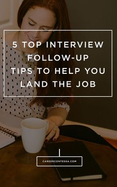 The 5 top interview follow-up tips to land the job from a recruiter on the inside. #Jobsearchtips