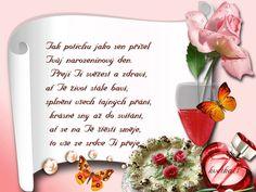 Přání k narozeninám « Rubrika | Blog u Květky Blog, Tableware, Dinnerware, Tablewares, Blogging, Dishes, Place Settings