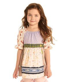 Another great find on #zulily! White Favorite Things Peasant Top - Toddler & Girls by Matilda Jane Clothing #zulilyfinds