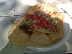 Indian Fry Bread Taco in Albuquerque, NM State Fair