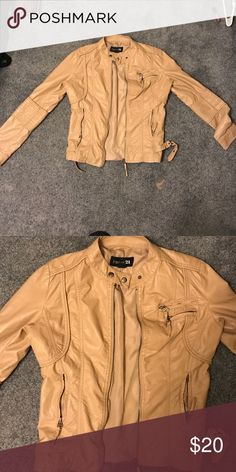 Forever 21 faux leather jacket Literally worn once! It's the cutest jacket ever just not really my style. Perfect condition and super super cute ((: Forever 21 Jackets & Coats