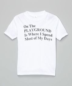 Look at this max & lilly tees White 'On The Playground' Tee - Toddler on #zulily today!