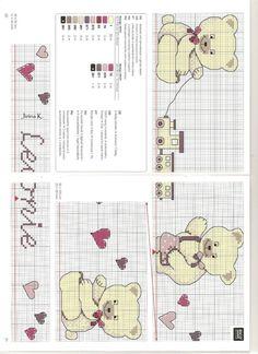 Gallery.ru / Фото #11 - 116 - Auroraten Cross Stitch Baby, Cross Stitch Animals, Stitch 2, Cross Stitching, Bookmarks, Embroidery Designs, Cute Animals, Cards, Handmade