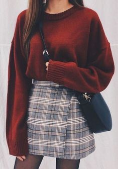 Damen Rock Outfit - Chi yeon - - Damen Rock Outfit - Chi yeon Source by pinthroughcom skirt outfits Rock Outfits, Basic Outfits, Cute Casual Outfits, Winter Fashion Outfits, Look Fashion, Skirt Fashion, Korean Fashion, Fashion Styles, Fashion Ideas