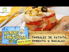 Karlos Arguiñano: Receta de Timbales de patata, pimiento y bacalao