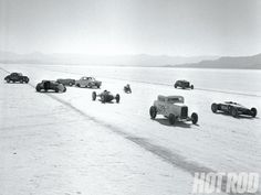 1955 Bonneville Salt Flats, Utah, Vintage Photo