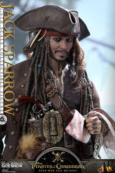Disney Jack Sparrow Sixth Scale Figure by Hot Toys | Sideshow Collectibles