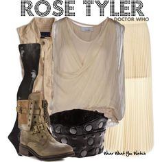 Inspired by Billie Piper as Bad Wolf Girl in the form of Rose Tyler in the Doctor Who Anniversary Special - The Day of The Doctor. Fandom Fashion, Geek Fashion, Womens Fashion, Disney Fashion, Doctor Who Cosplay, Character Inspired Outfits, Fandom Outfits, Casual Cosplay, Geek Chic