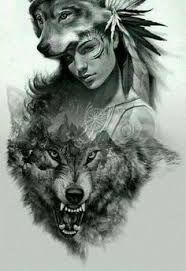 58 Ideas Tattoo Wolf Girl Drawing Native American For 2020 Native American Wolf, Native American Tattoos, Native Tattoos, Native American Artwork, Native American Drawing, Wolf Tattoo Design, Tattoo Design Drawings, Indian Tattoo Design, Wolf Drawings