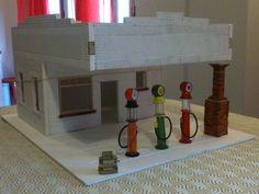magnolia gas station, replica. work in progress...