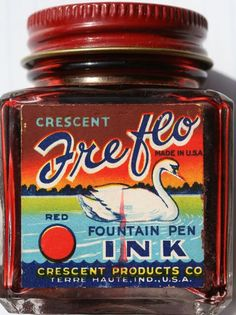 Vintage Red Ink Series: Crescent Freflo Red.