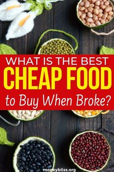 Cut your food budget is one of the easiest things to do when trying to save money. These are the cheap foods to buy to save money. Find cheap meal recipes and ideas. Plus eat healthy with these money saving tips. Money Saving Meals, Save Money On Groceries, Groceries Budget, Money Hacks, Money Tips, Food Budget, Budget Meals, Cheap Meals, Cheap Food