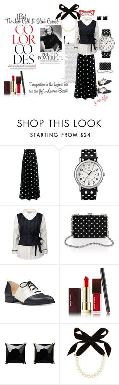 """""""""""LIFE"""" MAGAZINE: THE LAUREN BACALL EDITION-""""CALL"""" IT SLEEK CASUAL"""" by g-vah-styles ❤ liked on Polyvore featuring Boutique Moschino, Timex, Nine West, Ultimate, Kevyn Aucoin, Witchery, Lulu Frost, BeYou, girlpower and bebold"""