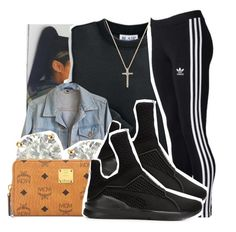 A fashion look from June 2016 featuring blair shirts, blue denim jacket and adidas. Browse and shop related looks. Summer Swag Outfits, Fresh Outfits, Dope Outfits, Outfits For Teens, Winter Outfits, Urban Fashion, Teen Fashion, Fashion Outfits, Puma Fierce