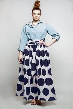 Looking Adorable with plus size Long Skirt