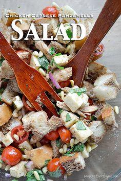 Chicken Caprese Panzanella Salad