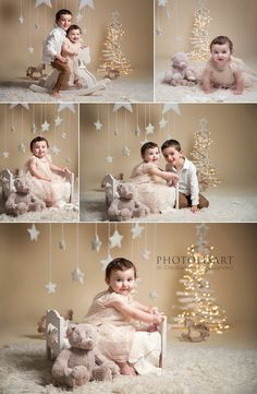 Baby Christmas Photos, Christmas Photo Booth, Xmas Photos, Christmas Mini Sessions, Kids Christmas, Christmas Portraits, Christmas Photography Kids, Holiday Photography, 1st Birthday Photoshoot