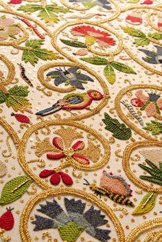 wasbella102: Detail from the Plimoth Plantation historic jacket reproduction, needlework by Tricia Wilson Nguyen.