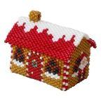 ThreadABead 3D Santa House Christmas Village Ornament Pattern