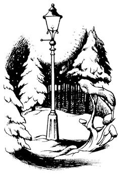 This is the next tattoo I want. The original illustration of the lamppost from The Lion, The Witch, and The Wardrobe. I'm thinking inner wrist.