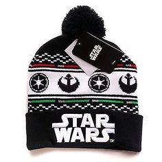 4d9681046e18e Disney Star Wars Junior One Size Imperial Rebel Pom Beanie Cap Black White    Price