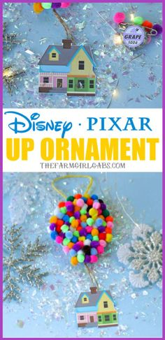 Make Your Own UP Disney Christmas Ornament Adventure is out there! This Christmas, Make Your Own UP Disney Christmas Ornament. This easy craft is perfect for fans of the Disney Pixar movie UP! – Disney Crafts Id Disney Christmas Decorations, Disney Home Decor, Christmas Diy, Disney Christmas Crafts, Christmas Unicorn, Up Pixar, Disney Up, Disney Babies, Disney Cars