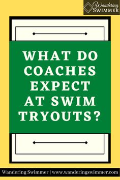 Every swim teams differs on their requirements to join a team, but there are certain things coaches expect to see at swim tryouts. Swim Team, Coaches, A Team, Encouragement, Join, Swimming, Sports, Swim, Hs Sports