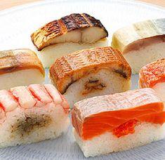 Informatie over de verschillende sushi's die er bestaan. Maki, temaki, uramaki, narezushi, nigiri, gunkan en oshi.