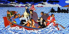 Roger Shimomura - Shimomura Crossing the Delaware, was recently acquired by the Smithsonian Museum of Art!