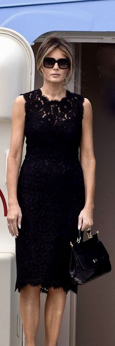 First Lady Melania Trump Little Black Dresses, dress, clothe, women's fashion, outfit inspiration, pretty clothes, shoes, bags and accessories