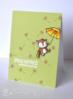 Lostinpaper - ME Up & Away Happiness card