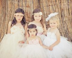 Romantic Vintage Couture Lace Flower Girl Dress