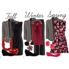 This is what I've got to learn how to do....stretch my closet into multiple outfits for various seasons!