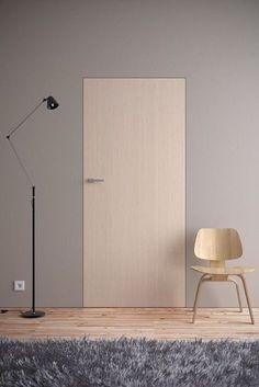 Drzwi - Drzwi z ukrytą ościeżnicą - Asilo - drzwi: wewnetrzne, zewnetrzne, antywlamaniowe, serwis, okna Invisible Doors, Internal Doors, Modern Interior, Interior Inspiration, Interior Architecture Design, Interior Walls, House Interior, Doors Interior, Apartment Interior