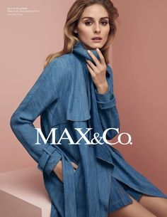 MAX&Co. S/S 2016 Campaign featuring our style ambassador Olivia Palermo wearing the denim trench DESIRE 6011016003001. Ph. Sean and Seng, styling Tom Van Dorpe. #maxandco #oliviapalermo #tomavandorpe #seanandseng #campaign #advertising