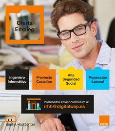 ¿Buscas #empleo?  Únete a nuestro Dpto. de #Informática en #Castellón Envíanos tu currículum a: rrhh@digitalwap.es Engineer, Self Esteem
