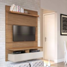 Compre Painel para TV 1 Porta para TV até 42 Polegadas City 1.2 Natural/Off-White - Província em Promoção com ✓ Até 12x ✓ Fretinho