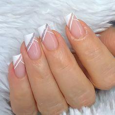 Manicure Nail Designs, Ombre Nail Designs, Nail Manicure, Sexy Nail Art, Self Nail, Gel Nails French, Bridal Nail Art, Glamour Nails, Nail Designer