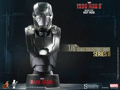 Busto Mark XXII Hot Rod 11 cm. Iron Man 3. Serie 2. Sideshow Collectibles Espectacular busto para tu colección de la armadura Mark XXII Hot Rod 11 cm visto en el popular film Iron Man 3, a escala 1/6, con luz y 100% oficial y licenciado.