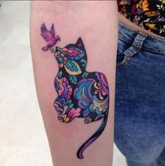 cat tattoo #ink #youqueen #girly #tattoos #cats @youqueen