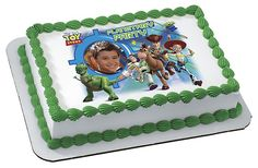 Pixar Toy Story 3 Planetary Party - Your PHOTO Edible Image Cake / Cupcake Topper Personalized Licensed Icing / Frosting Sheet