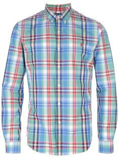 Clothing - Polo Ralph Lauren Check Long Sleeve Shirt - Tessabit.com \u2013 Luxury Fashion