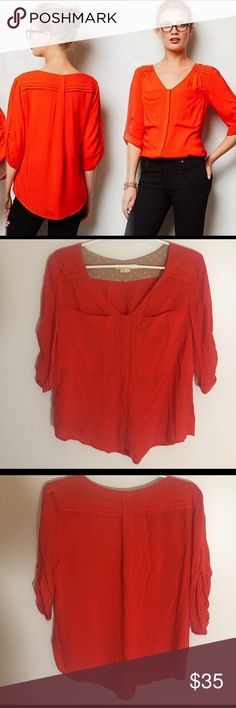 Anthropologie Edme Esyllte Blouse So cute and perfect dressed up or down! 100% rayon. Excellent pre worn condition. Size 4. Anthropologie Tops Blouses
