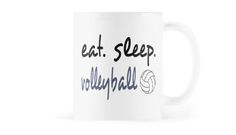 Eat Sleep Volleyball #redbubble #volleyball #mugs